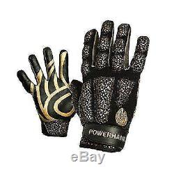 POWERHANDZ Weighted Anti Grip Basketball Gloves Large New