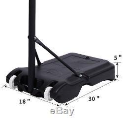 Parent-child Kid Basketball Backboard 5.4ft-7ft Adjustable With Wheels Boy Gift