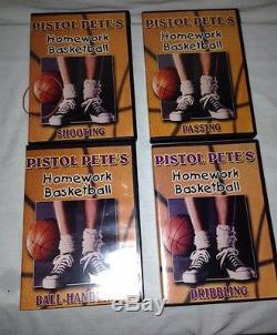 Pistol Petes Homework Basketball 4 DVD Set Dribbling Passing Handling Shooting