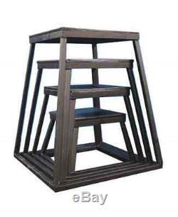 Plyometric Platform Box Set 12, 18, 24, 30 Black