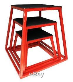 Plyometric Platform Box Set- 12 18 24 Red