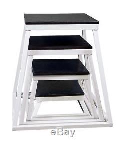 Plyometric Platform Box Set- 6, 12, 18, 24 White