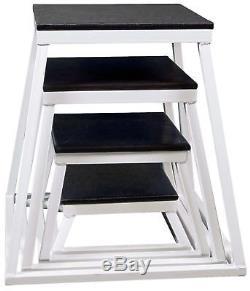 Plyometric Platform Box Set- 6 12 18 24 White