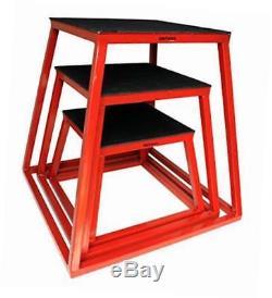 Plyometric platform box set- 12, 18, 24 red