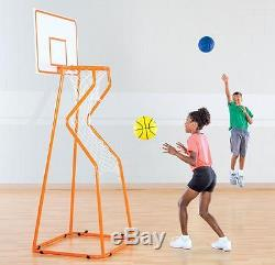 Portable Basketball Hoop 6' Height With Automatic Ball Return