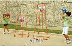 Portable Basketball Swish Ball Goal Hoop 4ft Height 360 Degree Shooting Practice