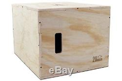 Ps 1251 Pwb L 3 In 1 Wood Plyometric Jump Box For Crossfit Light 30/24/20