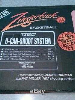 Rare Zingerback basketball return. Video + Cass. Box opened to check contents