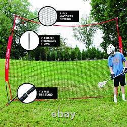 Rukket 12x9ft Barricade Backstop Net Indoor and Outdoor Lacrosse Basketball