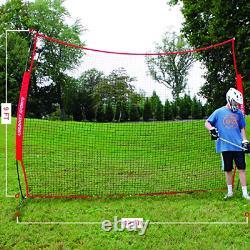 Rukket 12x9ft Barricade Backstop Net, Indoor and Outdoor Lacrosse, Basketball