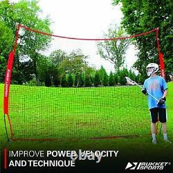 Rukket 12x9ft Barricade Backstop Net Indoor and Outdoor Lacrosse Basketball S