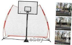 Rukket Basketball 12x13 Return Net Guard and Backstop, Hoop Rebound Back