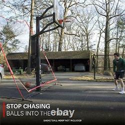 Rukket Basketball 12x13 Return Net Guard and Backstop Hoop Rebound Back Netti
