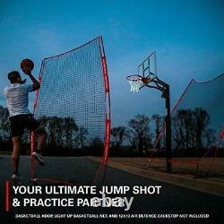 Rukket Basketball 6x10 Adjustable Return Net Guard and Backstop Hoop Rebound