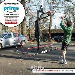 Rukket Basketball Return Net Guard & Backstop, Hoop Rebound Back Netting