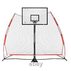 Rukket Basketball Return Net Guard and Backstop Hoop Rebound Back Netting for