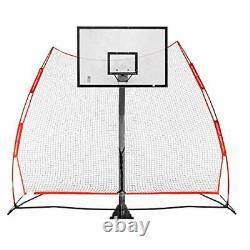 Rukket Basketball Return Net Guard and Backstop, Hoop Rebound XL Return Net