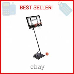SKLZ Pro Mini Hoop Basketball System with Adjustable-Height Pole and 7-Inch