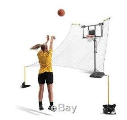 SKLZ Rapid Fire II Make or Miss Ball Return Protective Backstop Net 180-Degree