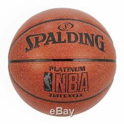 SPALDING PLATINUM ZI/O ECXEL Basketball Official Size 7 free ship 74-555Z 19F