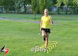 Set of 6- 6 Speed Agility Training SPEEDSTER Mini Hurdles with Carry Strap