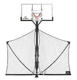 Silverback Basketball Yard Guard Defensive Net System Rebounder with Foldable Ne