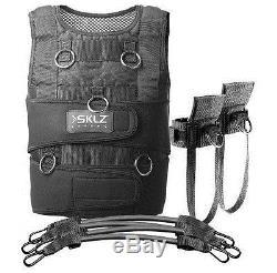 Sklz Chrome Hopz Pro Vertical Jump Trainer Vest Professional 80+ Resistance