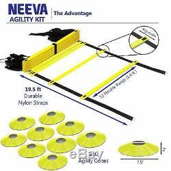 Speed Agility Training Kit- Set of Premium Agility Ladder, Resistance Running