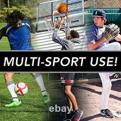 Sports Basketball Pass Back Rebounder Net Multi-Sport Training Rebound Screen
