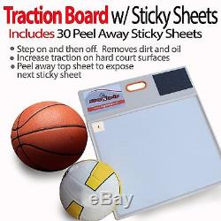 StepNGrip Courtside Shoe Grip Traction Board Includes 30 Sticky Sheets and for