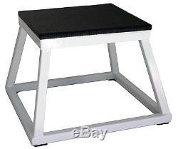 White Plyometric Platform Box- 12 (PMPF-12W)