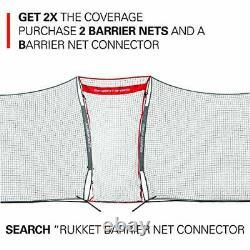 XL 16x10ft Barricade Backstop Net, Indoor and Outdoor Lacrosse, Basketball, Socc